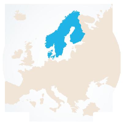 Σκανδιναβία χάρτης